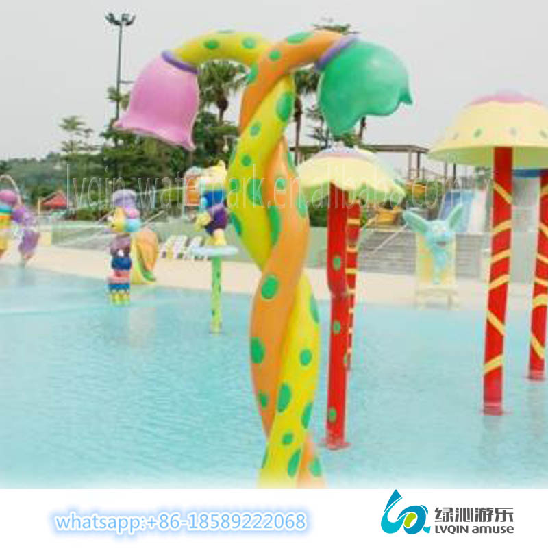 Artificial flowers indoor water park equipment