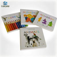 Professional manufacturer print custom children board book , children learning book