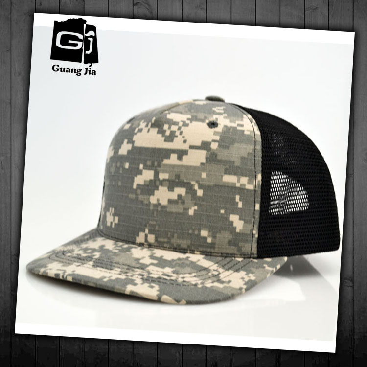 High quality woodland camo mesh security guard cap