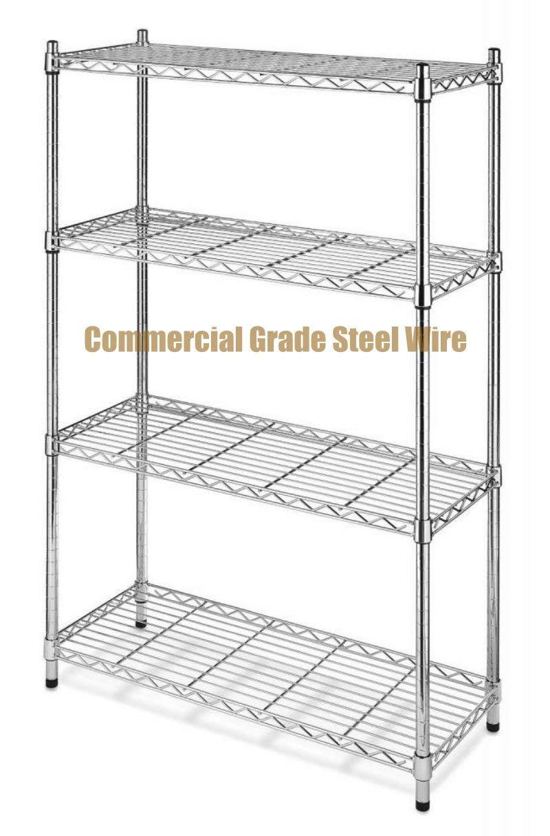 Commercial Grade NSF 4 Tier Steel Shelving Storage Office Garage Kitchen Closet  Organizer Adjustable Durable