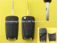 Best selling auto key for 2 buttons HU43 blade flip key remote replacement blank Opel Vectra key
