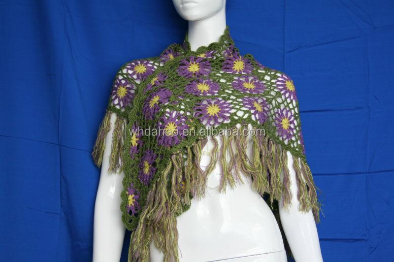 Girl's Fashion Customize Wool Hand Made Cutout Flower Pattern New ...