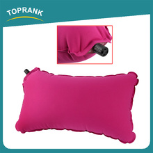 Toprank New Design Outdoor Camping Travel Comfortable Cushion Pillow High Resilience Sponge Automatic Inflatable Air Pillow