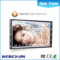 Open frame innovative advertising display frame 7 inch touch screen lcd monitor for car pc