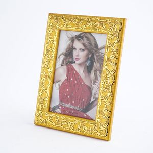 Hot selling golden beautiful pattern fine picture photo frame, silver fine carved wholesale photo frame