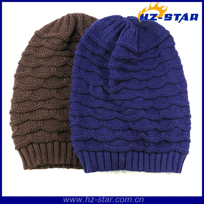 HZM-13505 store hot sale top designer famous brand soft pure color crochet caps