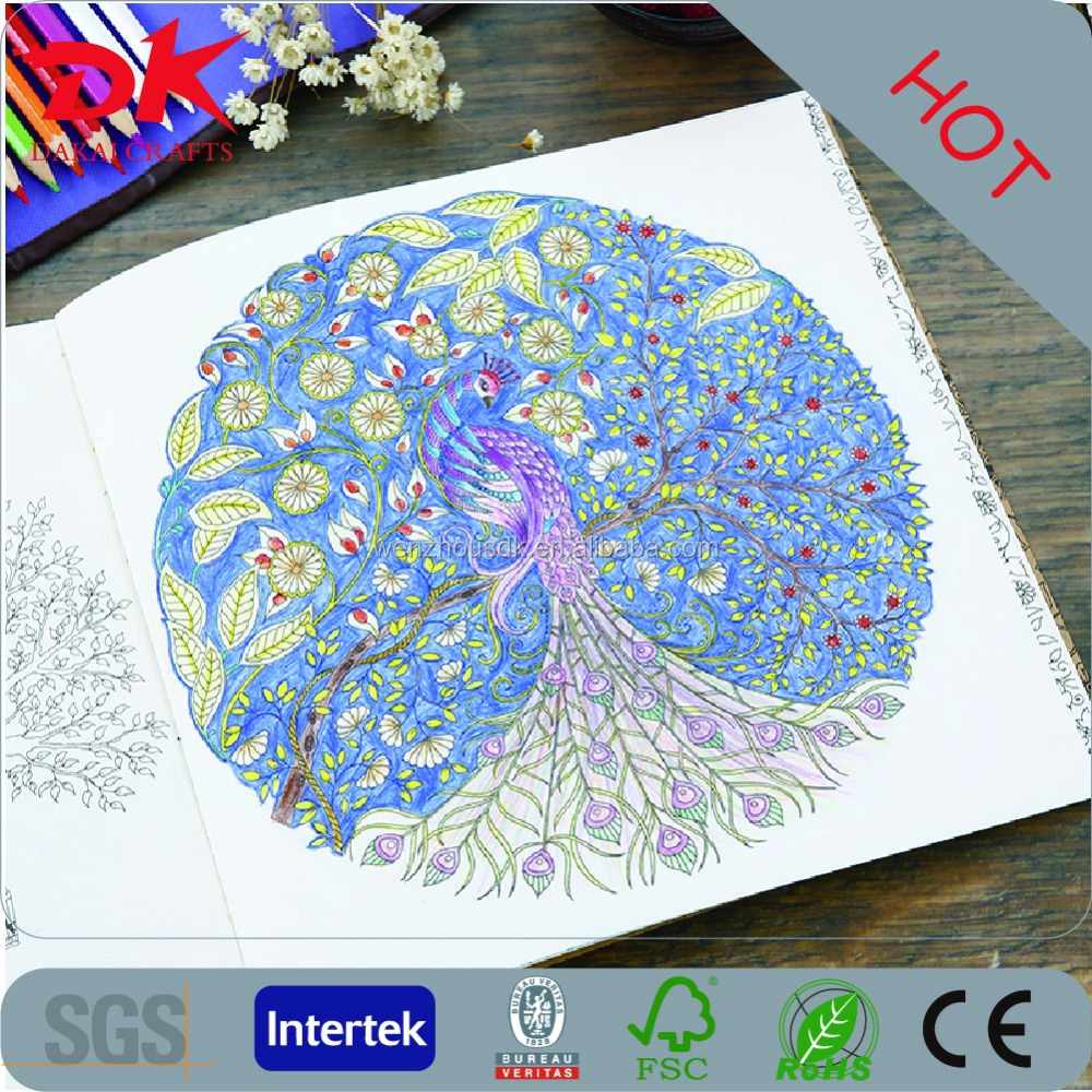2016 Best Selling Hand Painting Secret Garden Adult Coloring Book High Quality Paiting Books