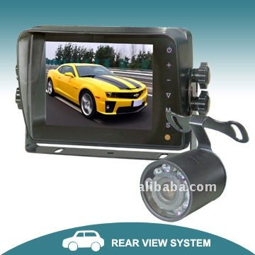 5 inch car safety system with touch button monitor