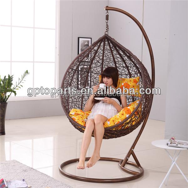 outdoor con jardn moda blanco de mimbre colgante columpio silla muebles de ratan patio sof set