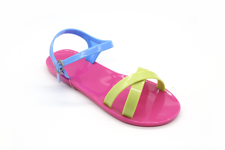 New Design Wholesale Children Summer Kids Wedge Flat Jelly Sandals