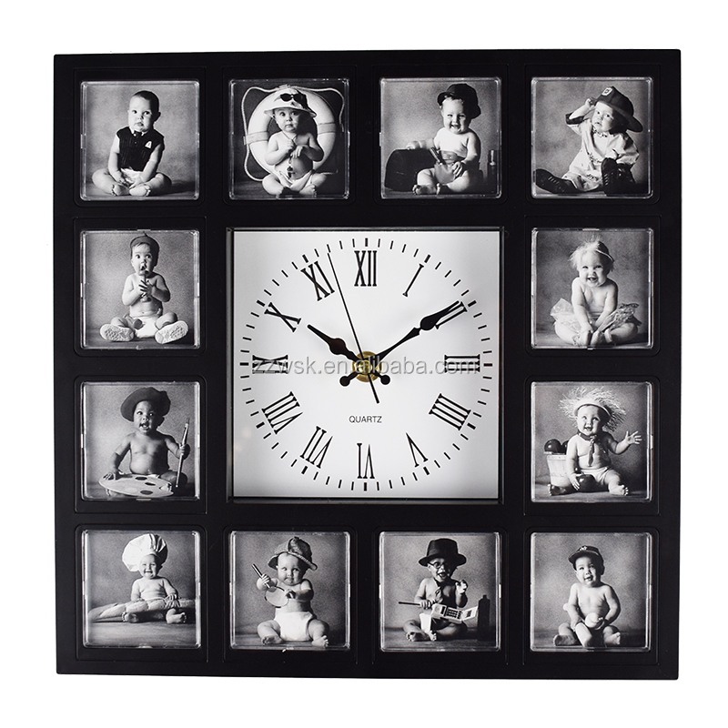 Square Photo Frame Wall Clock, Square Photo Frame Wall Clock Suppliers And  Manufacturers At Alibaba.com