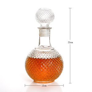 1 lite runique shape wine glass bottle diamond glass wine bottle