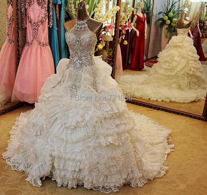 Big Wedding Dresses With Diamonds | www.imgkid.com - The ...