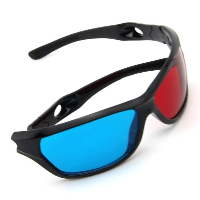e82202d1aa Get Quotations · Red Blue Plasma Plastic 3D Glasses TV Movie Dimensional  Anaglyph Framed 3D Vision Glasses High Quality