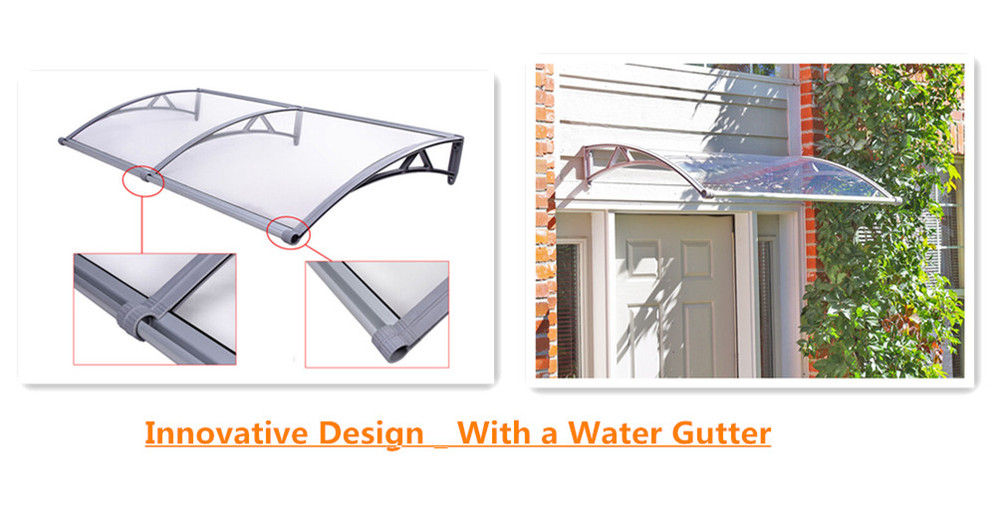 Innovative design - PP Plastic Polycarbonate Door Canopy with Water Gutter - Clear transparent PC roof  sc 1 st  Alibaba & Innovative Design - Pp Plastic Polycarbonate Door Canopy With ...