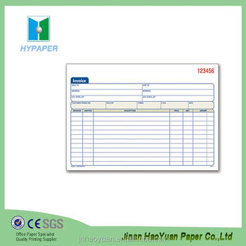 Book In Receipt Invoice Printing Hotel Invoice  Book Invoice