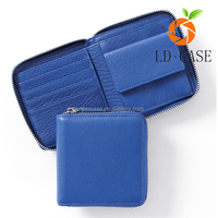 colorful PU Zipper Around small Size Fashion leather Wallet
