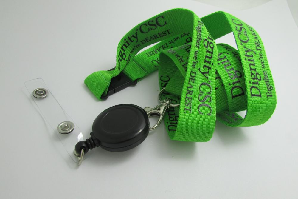 Cheap Custom Personalized Logo Silk Printing Flat Polyester Lanyard