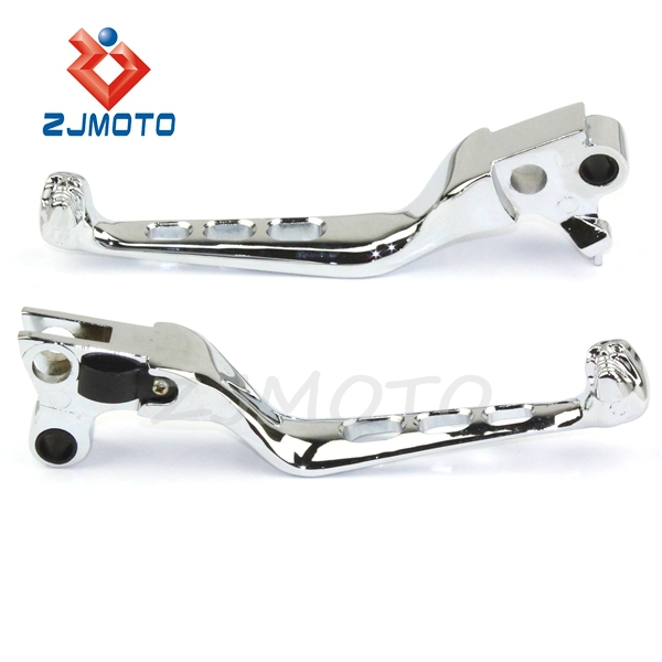 ZJMOTO Motorcycle Adjustable Extendable Clutch Brake Skull Levers For 1996-2003 XL Sportster 883 1200