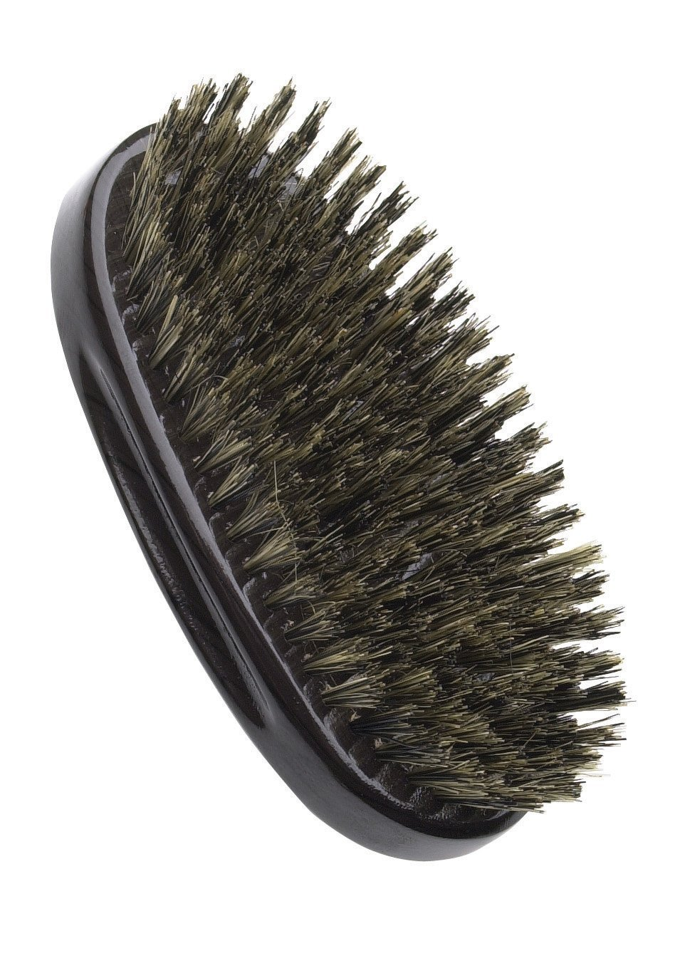 Diane Men's Palm Brush, 100% Boar Bristles - 2 pieces, Boar bristles, dark wood, natural bristle, grey wood handle, gray wood, salon, barber, professional, thick hair, thin hair, mens brush, women brush, adults and kids, won't hurt your head, comb, hair comb