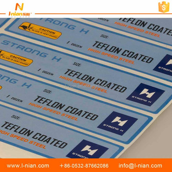Custom die cut safety warning label stickers manufacturer