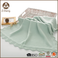 Cheap Wholesale Heavy Woven Cotton Throw Blanket
