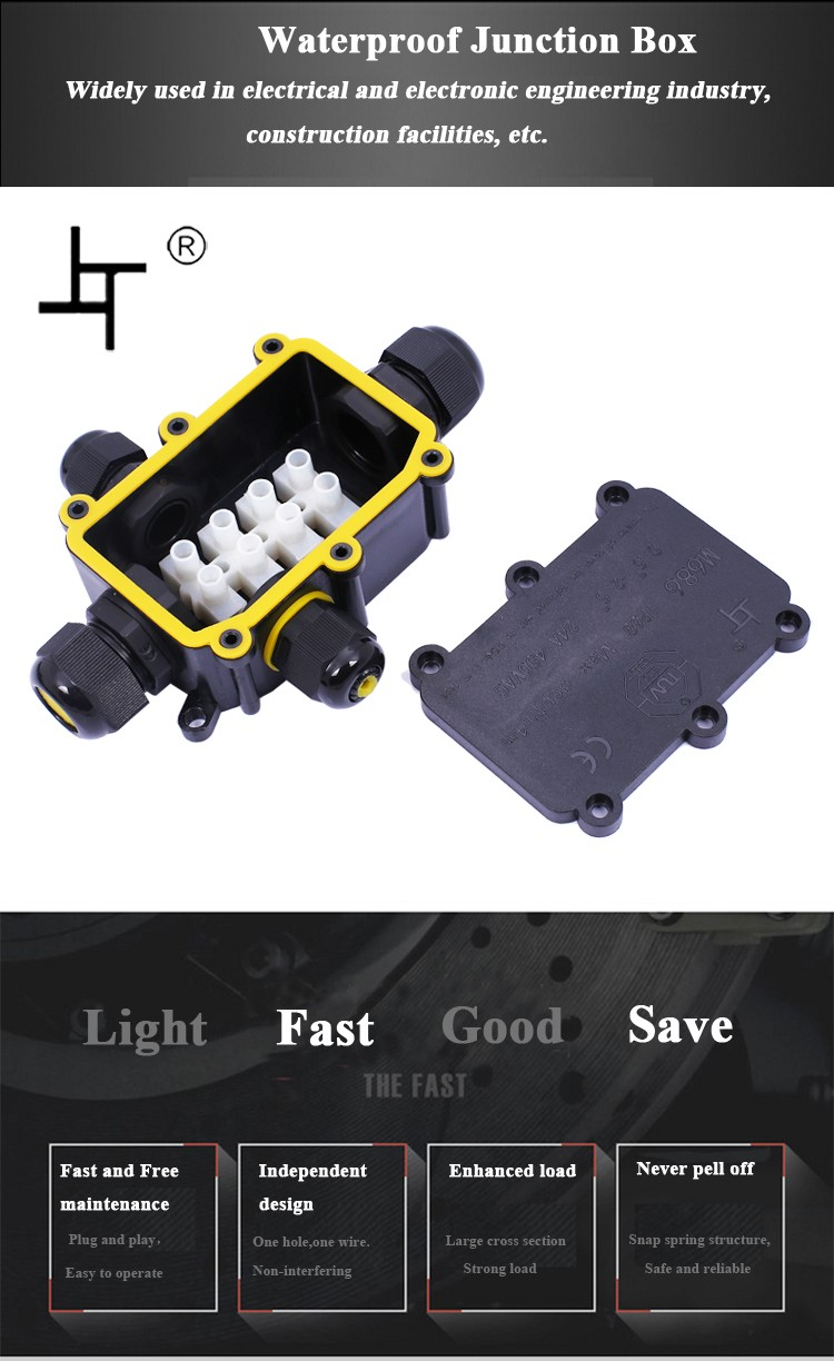 2-6 Way Waterproof Electrical Junction Box Cable Wire Connector IP68 Outdoor New