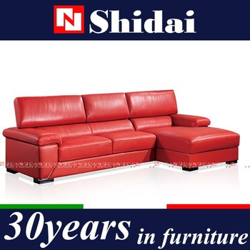 Hottest Red Imported Leather Furniture Modern Sofa Designs For ...