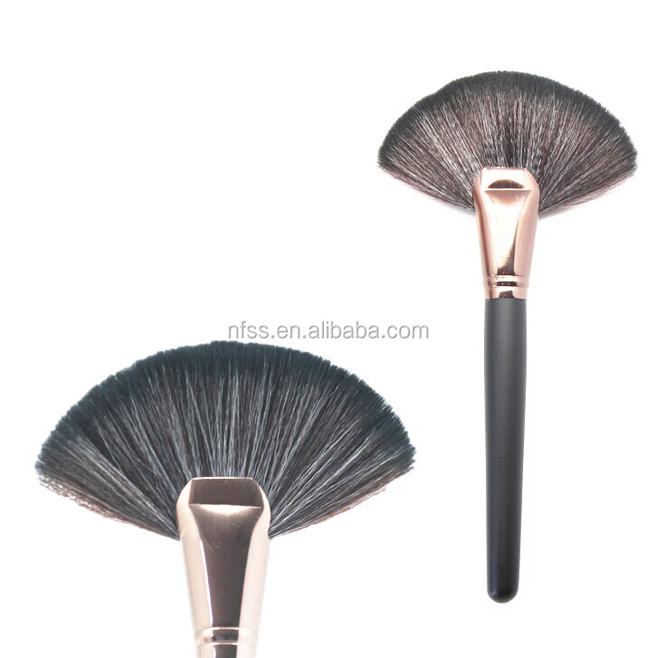 fan make up cosmetics brush supplier, facial beauty fan brush professional makeup use