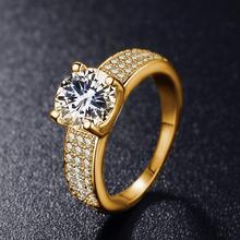 Luxusný dámsky prsteň s kamienkami z Aliexpress