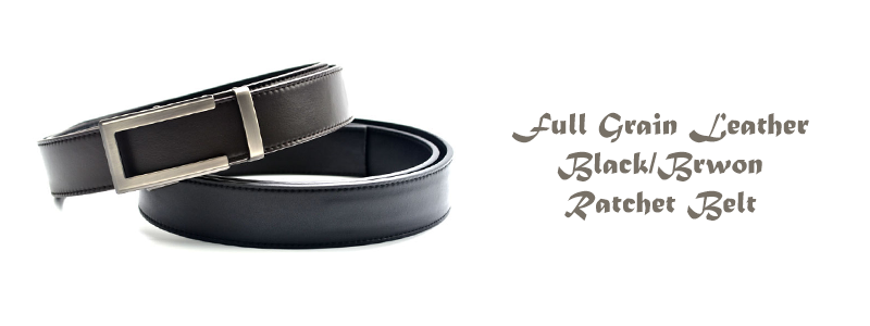 dec12c1b5faa5d Printed White Belt Business Style Cowhide Mens Golf Ratchet Belt ...