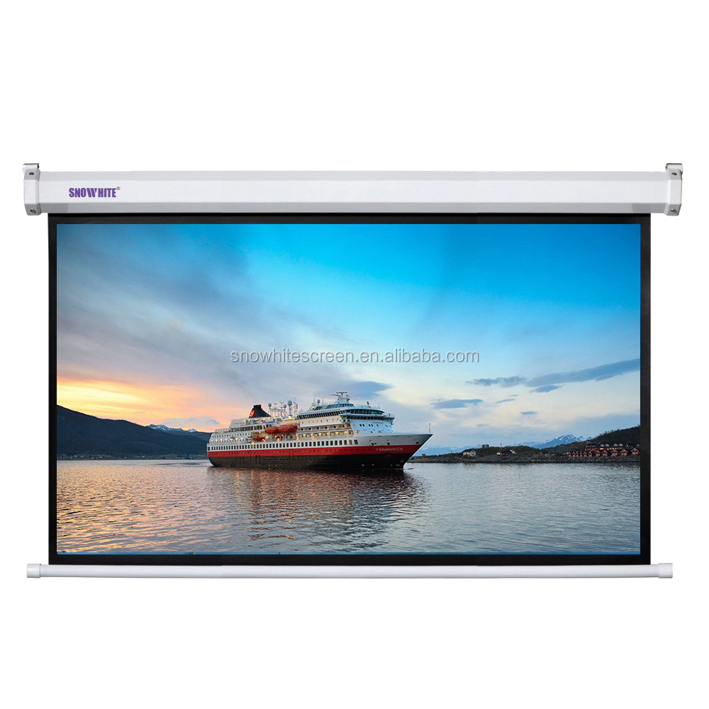 "SNOWHITE 100"" 16:9 Format 3V100MEH-S(R) Luxurious Cinema Electric Projection Screen"