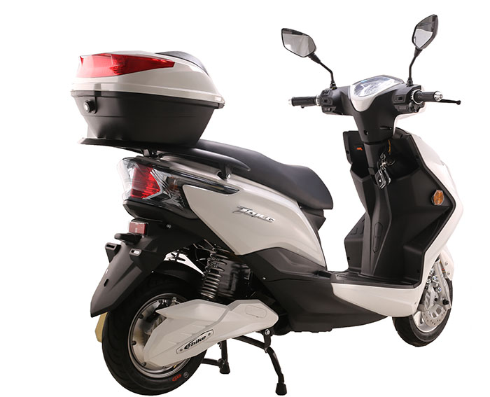 style electric moped with pedals