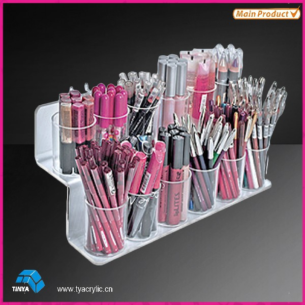 Ny produkt Multi-use Kosmetiske Displays Make Up Counter børsteholder Acrylic Pen Display Stand