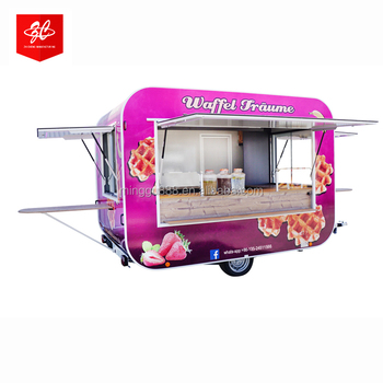 ice cream machine/donut food vending carts coffee truck  for sale with BIG WHEEL and TOWED BAR