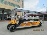8 seater tourist green power large wheels golf cart|AX-B9+3