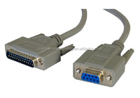 Serial Modem Cable/ 9 pin to 25 pin serial printer cable