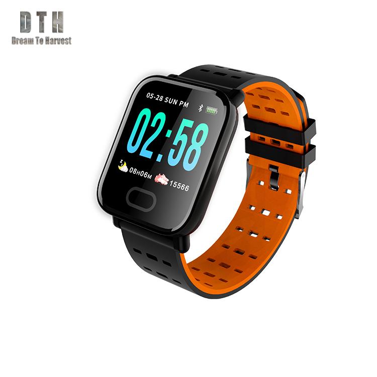 Della vigilanza di sport digitale bluetooth braccialetto intelligente manuale a6 per android gps dello schermo di tocco smart camera della vigilanza