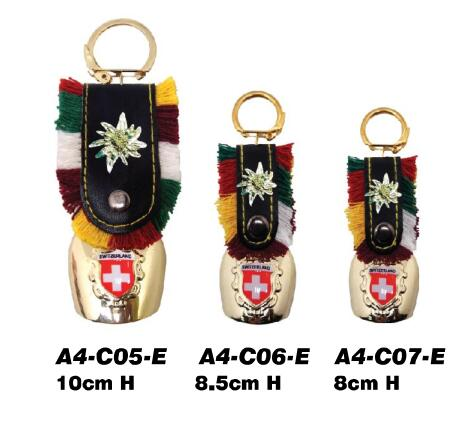 Custom design Switzerland souvenir gifts Cowbell keyring