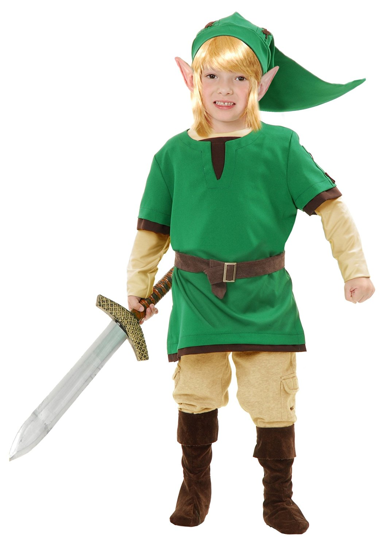 kids elf warrior costume legend of zelda link costume large 10 12