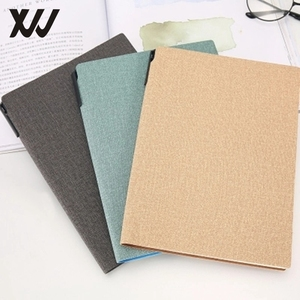 free sample customized personalized notebook leather journal students stationery diary with penhold