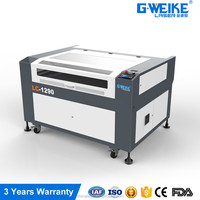 low price with the working area of 120x90 laser cutting/graving machine for leather and nonmetal