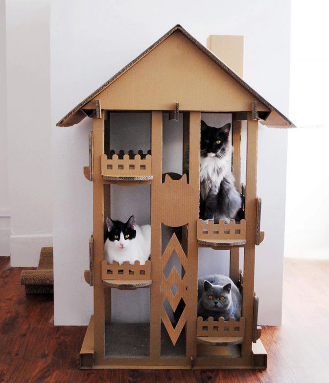 Wholesale Indoor Play Cat Mat Cardboard Cat House New