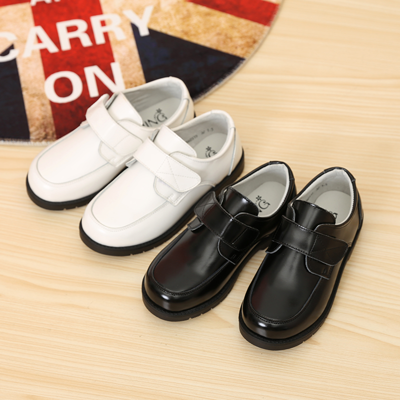 도매 어린이 Black Dress Shoes Kids Boys 가죽 School Shoes