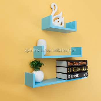 Mdf Blue Color Wall Hangs Shelf - Buy Mdf Decorative Wall Shelf ...