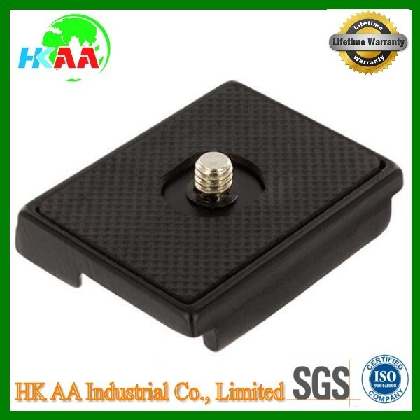 CNC machining good quality black oxide aluminum / steel quick release camera plate, quick release plate for camera