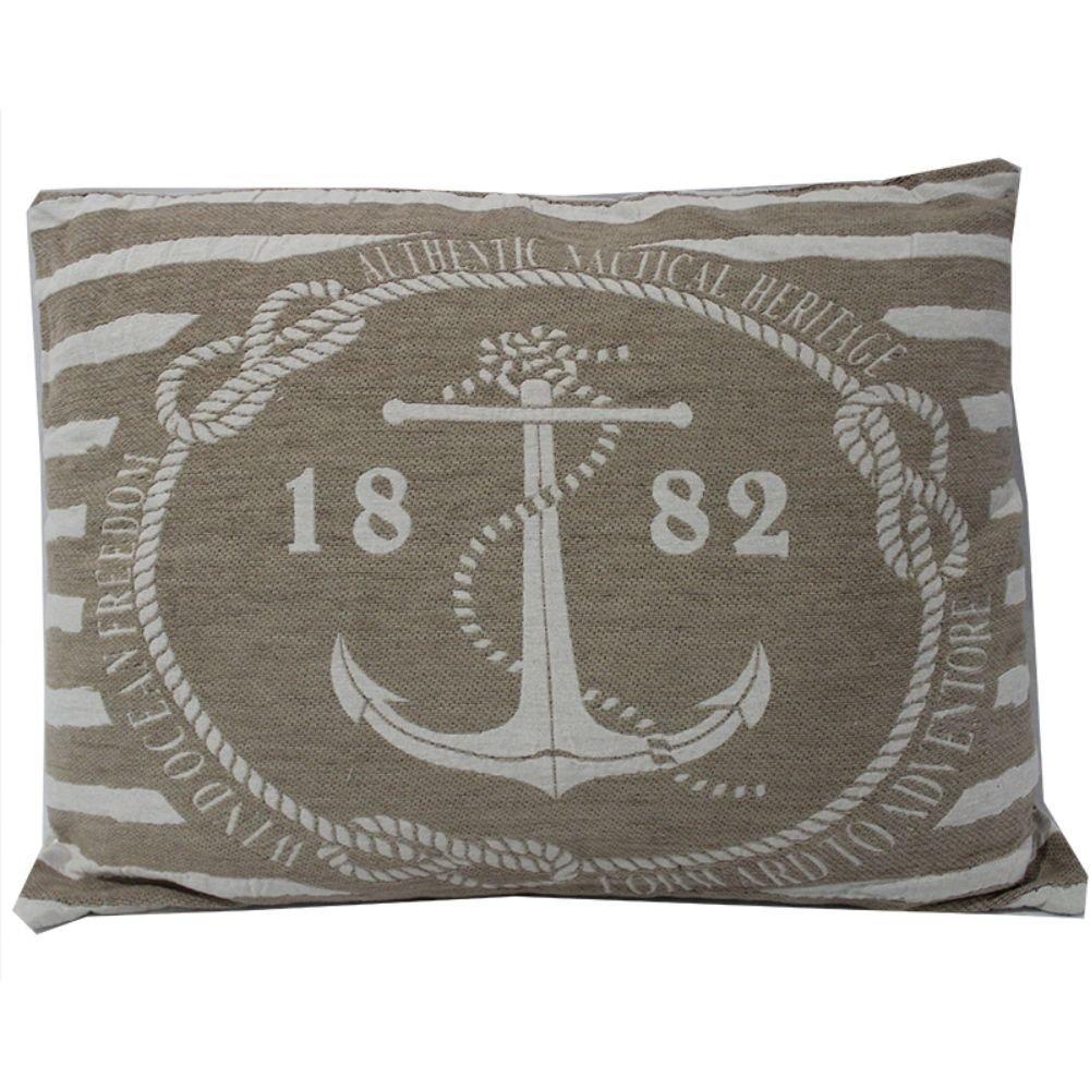 Stylish Anchor Design Jacquard Cushion