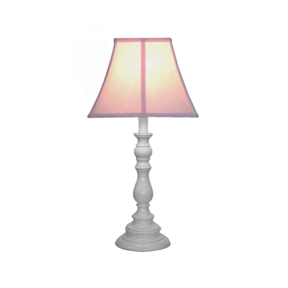 Creative Motion Home Office Decorative White Base Resin Table Lamp Pink with 13 W CFL Bulb, new