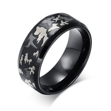 National wind hand act the role ofing is tasted Three color laser camouflage rings Titanium steel men's ring YSS412