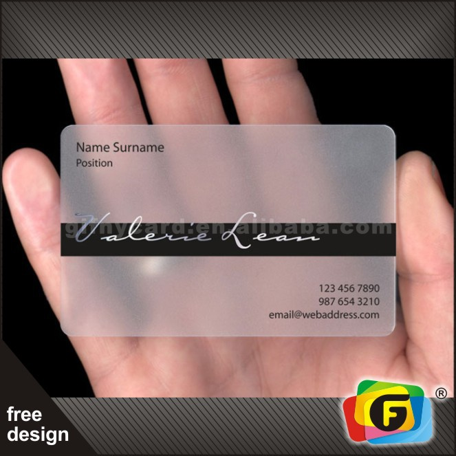 Unique custom design frosted pvc transparent business card view unique custom design frosted pvc transparent business card colourmoves Gallery